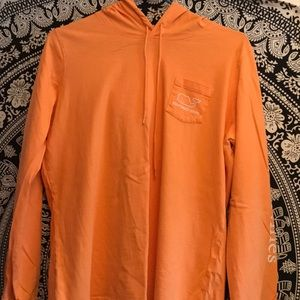 Orange Vineyard Vines pullover shirt